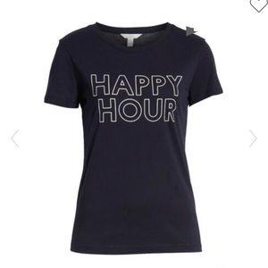 1901 Graphic Tee Navy White Happy Hour t-shirt XS
